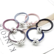 1 pcs Hot Selling Elastic Pearl Hair Ropes For Girls Scrunchie Rubber Bands Ponytail Holder Ties Accessories