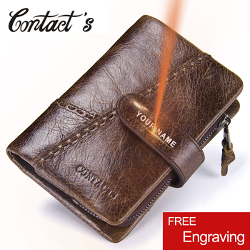 Vintage Coin Purse Zipper Genuine Leather Short Men Wallet With Key Holder Ring High Quality Card Holder Wallets Men's Purse genuine cow leather men wallets rfid double zipper card holder high quality male wallets purse vintage coin holder men wallets