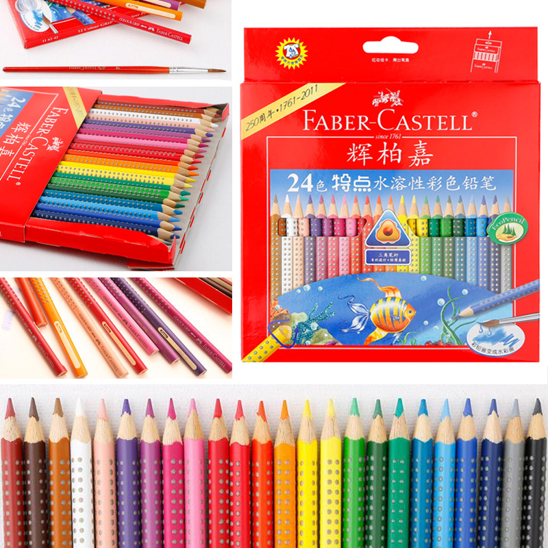 Faber-Castell Tin of 36 Colour GRIP 2001 pencils Assorted
