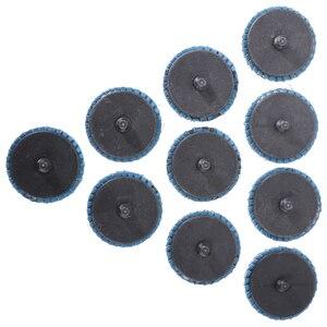 "Image 4 - 10pcs/Set 2""/50mm Lug Sanding Grinding Wheel 60 Grit Flap Type R Roloc Disc Wheels Wood Metal Plastic Abrasive Tool"