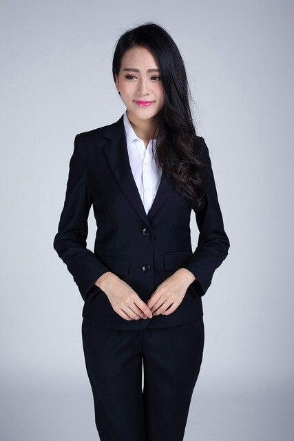 Más el Tamaño S-3XL Pantalones Mujer Trajes Para la Ropa de Trabajo de Un b62480bb4f5