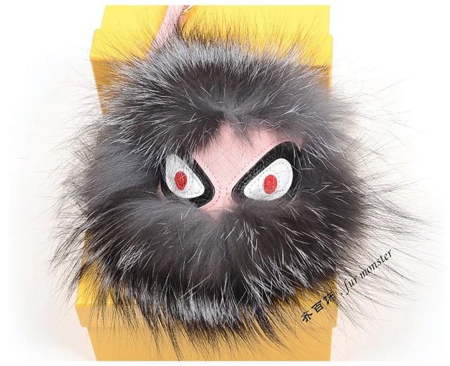Freeshipping moda engraçado careta monstro brinquedos de pelúcia bolsa de pele de couro os acessórios Karlito