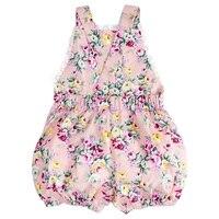 Infant Kids Toddler Baby Girl Bodysuit Strap Jumper Jumpsuit Rose Flower 6 12 Months