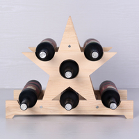 A star boutique wine rack wine display cabinet wood ornaments containing ornaments