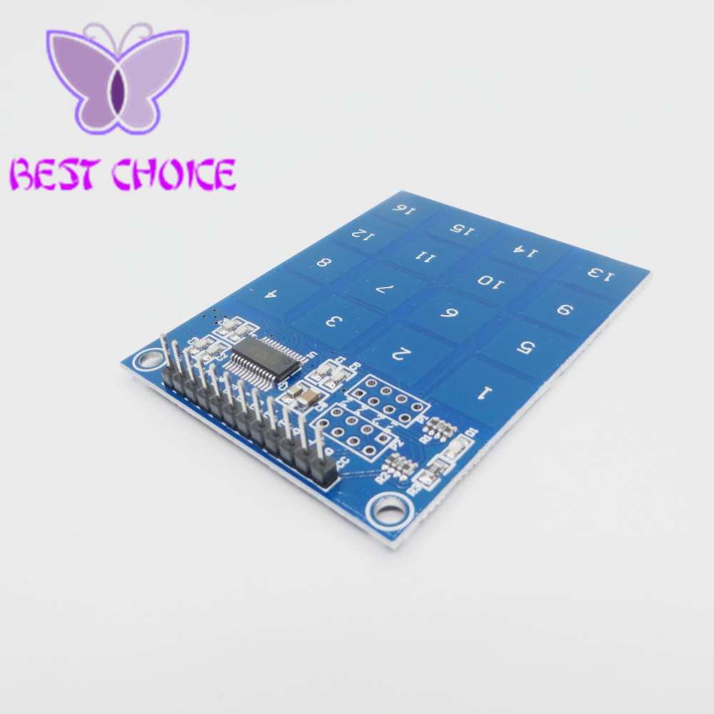 Ttp229 16 Channel Way Digital Capacitive Switch Touch Sensor Circuit Module For Arduino In Integrated Circuits From Electronic Components Supplies On