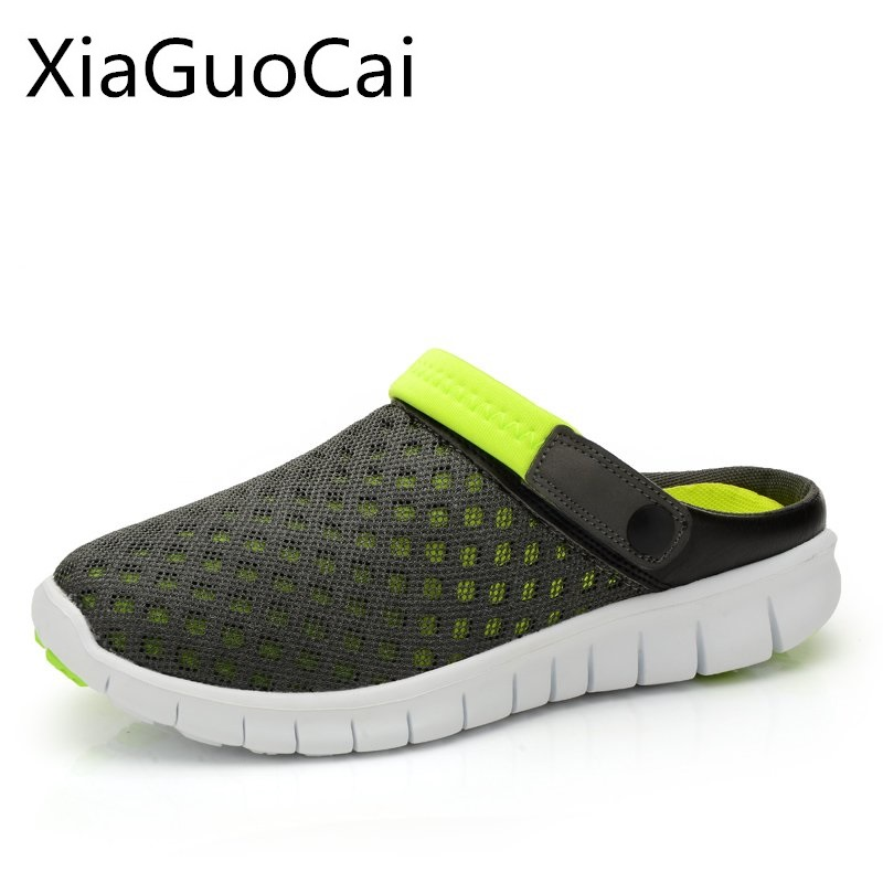 Summer Mans Sandals Mesh Breathable Sandals for Men Non-slip Beach Footwear Casual Lightweight Flat Shoes