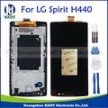 Para lg spirit h440 h442 h420 h440n c70 h422 display lcd touch screen substituição digitador assembléia de vidro com moldura + ferramentas
