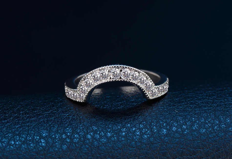 2019 ใหม่ desgin Moonso 925 แหวนเงินสเตอร์ลิงชุดเจ้าสาวคลาสสิกหมั้นแหวนเครื่องประดับสตรี r4426
