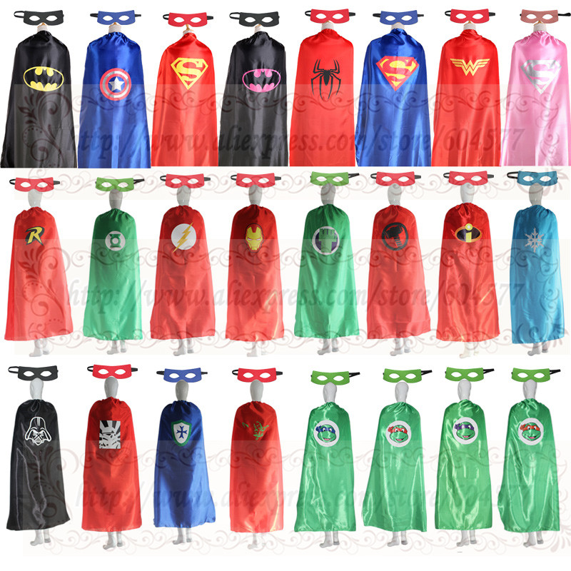 55inch/140cm Adult Superhero Cape and masks Halloween Costume Party Favors