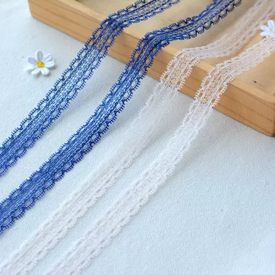 5m fine double sided embroidery lace trim DIY doll clothes home fabric decoration Apparel Sewing Lace Fabric accessories HY176 in Lace from Home Garden