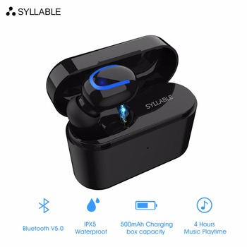 Original SYLLABLE Q26 Single pack headphone 500mah Charger case battery capacity Q26 headset 50mAh extra Ear Buds