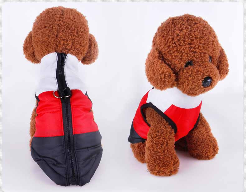 Popular Color Blocking Pet Apparel Dog Clothes Winter Puppy Dogs Vest Cotton-padded Jacket Coat for Chihuahua Teddy Poodle3