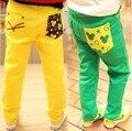 2016 Real Direct Selling Appliques Pattern Leggings Roupas Infantis Menina Nununu And Cartoon Casual Trousers Pocket Kids Pants