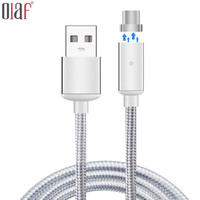 For Type C Magnetic Cable Nylon Braided Micro USB Magnectic Cable Data Charge Cable Magnet Fast