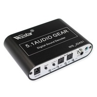 Wiistar 5.1 Audio Gear Decoder Digital to 5.1 CH Analog Surround Sound SPDIF Coaxial to RCA USB Support AC3/DTS Dolby