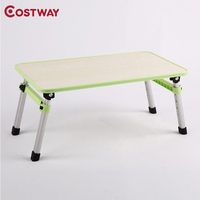 COSTWAY Computer Desks Portable Adjustable Foldable Laptop Notebook Lap Folding Small Desk Stand For Bed Office