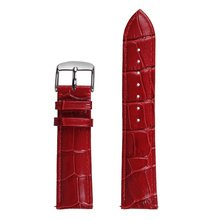 Red Genuine Leather Crocodile Pattern for Gear S3 Watch Band 22mm Replacement Strap For Samsung Gear S3 Smart Watch