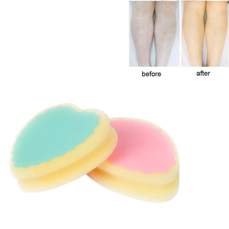Elecool 2pcs Face Body Hair Remover Depilation Sponge Smooth Skin Leg Hair Removal Pad Arm Painless Epilatory Tool For Sale Beauty & Health