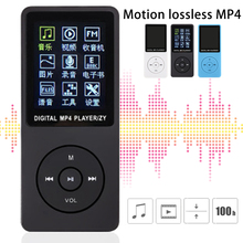цена на ZY-418 Fashion Portable MP3 MP4 Player 1.8 INCH LCD Screen FM Radio Video Games Movie White/Blue/Black Exquisite Craftsmanship