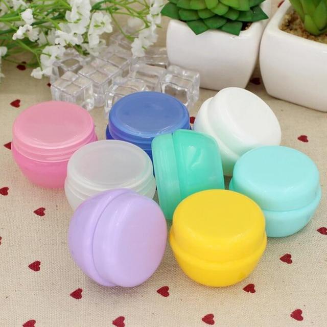 5Pcs/Lot Mini Empty Jar Pots Cosmetic Makeup Inner Lid Face Cream Lip Balm Container My Refillable Bottles Wholesale