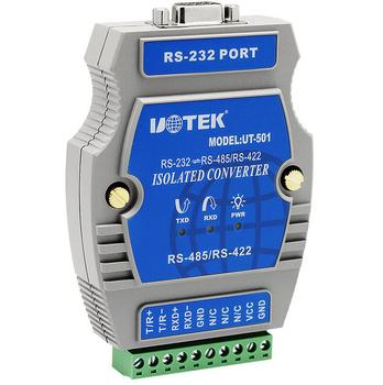 UT-501 Industrial RS-232 to RS-485/422 Port-Powered Converter with Isolation NO Power Photoelectric