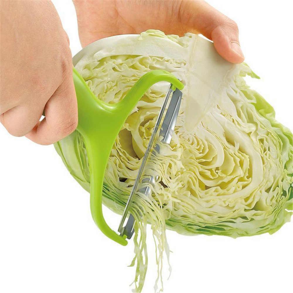 Rebanador de repollo de acero inoxidable rallador de verduras de boca ancha pelador de fruta cuchillo de patatas grandes Zesters cortador de utensilios de cocina
