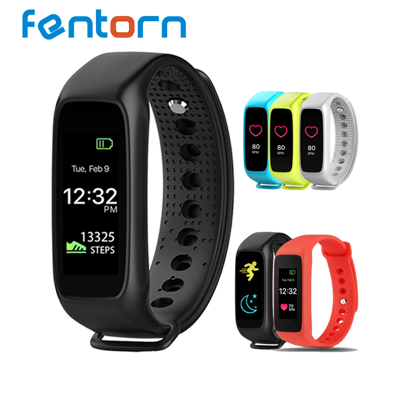 Fentorn L30t Bluetooth Smart Band Heart Rate Monitor <font><b>Full</b></font> <font><b>color</b></font> TFT-LCD Screen Smartband for IOS android os pk mi band 2