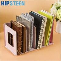 Creative Wooden DIY Desktop Book CD Storage Sorting Bookends Office Carrying Shelves
