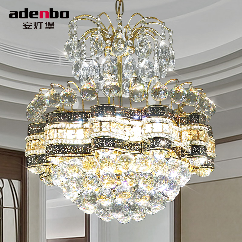 Modern Gold LED Crystal Chandeliers Light 48cm Ceiling Chandelier Fixtures For Dining Room Bedroom Lighting ADB1189 In From Lights