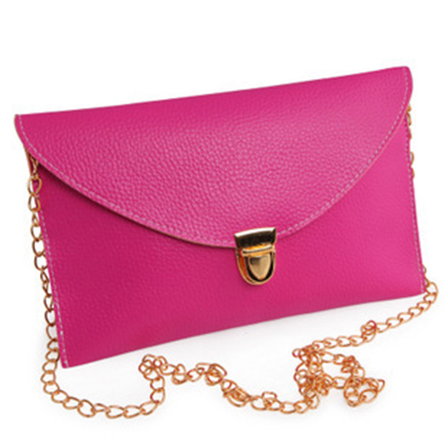 Envelope Bags Women Crossbody Sac A Main Bolsa Feminina Vintage PU Leather Messenger Shoulder Handbag Evening Clutch