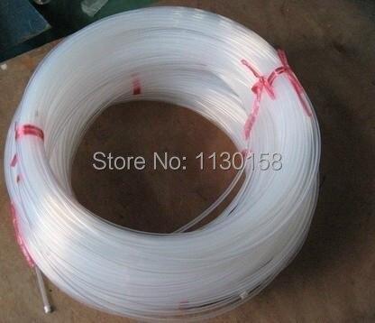 1/4 inch Teflon Tube IDXOD=4.3X6.4mm, Length=2m PTFE Tube,High Quality Clear Color high quality white color ptfe teflon gasket d t w 100 2 5mm