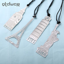 1PC Retro London Eiffel Tower Statue of Liberty Bookmark Stationery for Student Gift Office Supplies Book Mark(China)