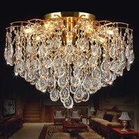 K9 Crystal Lamp New LED Living Room Chandelier Bedroom Lights Restaurant Lobby Chandeliers European Gold Chandeliers