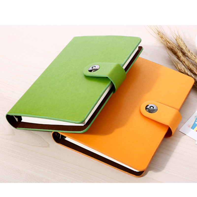 New Leather notebook spiral 32K paper 96 sheets Diary Note book Notepad Office School Supplies gift projector lamp bulb 5811116713 s 5811116713s for vivitek d851 projector bulb lamp with housing