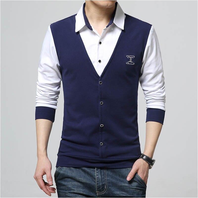 Polo   Shirt Men 5xl Fake 2 Piece Black White Grey Navy Red Cotton   Polo   Shirt Men Plus Size Cotton   Polos   Casual Business   Polo   4xl
