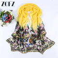 2016 Scarf Luxury Brand The New Retro Ink House Printing Shawl Summer Cycling Sunscreen Chiffon Shawl