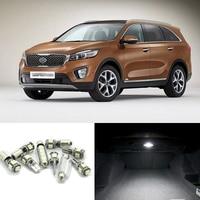 JGAUT White Car Lamp LED Light Bulbs Interior Package Kit For 2011 2012 2013 Kia Sorento