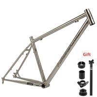 TSUNAMI MTB Reynolds 520 Steel Mountain Bike Frame 26/27.5/650B Classic Silver 15.5/17/18.5 inch Bicycle Frame