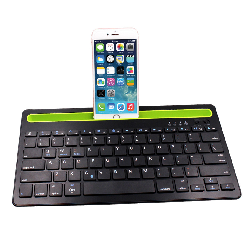 100 original portable wireless keyboard bluetooth multi device keyboard for computers tablets. Black Bedroom Furniture Sets. Home Design Ideas