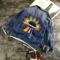 Embroidered Women Denim Jacket Tassel 2018 Spring Korean BF Style Loose Vintage European And American Street