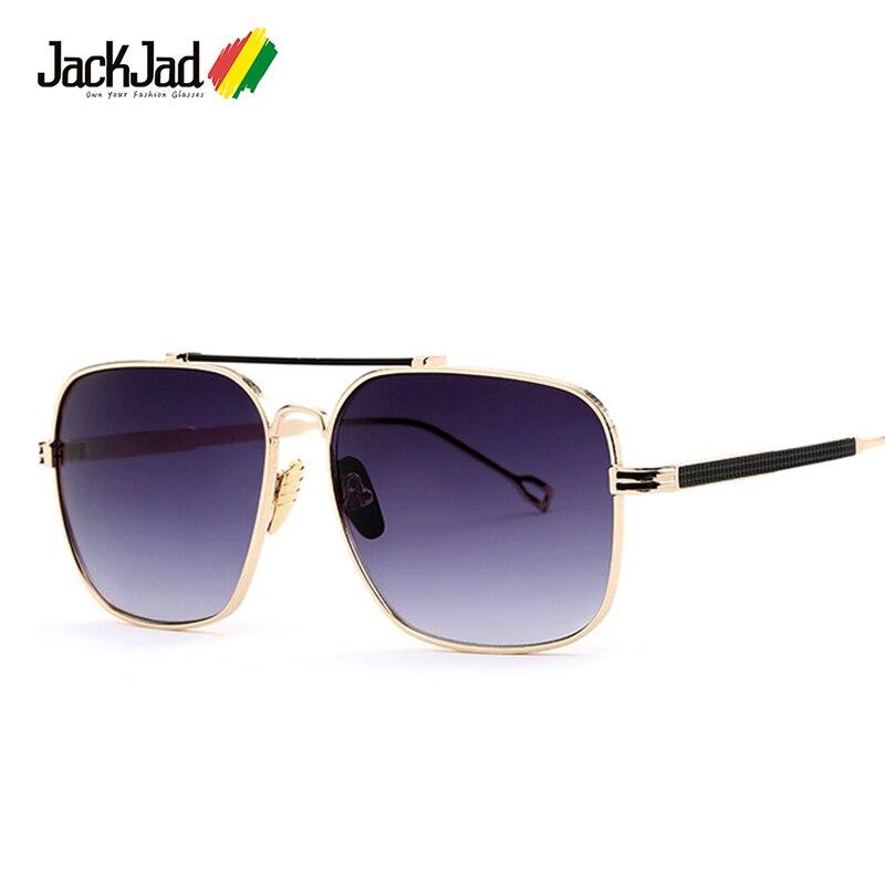 JackJad 2018 Homens Da Moda Quadrado Estilo Aviação óculos de Sol Armação  de Metal de Qualidade 86afbcd760