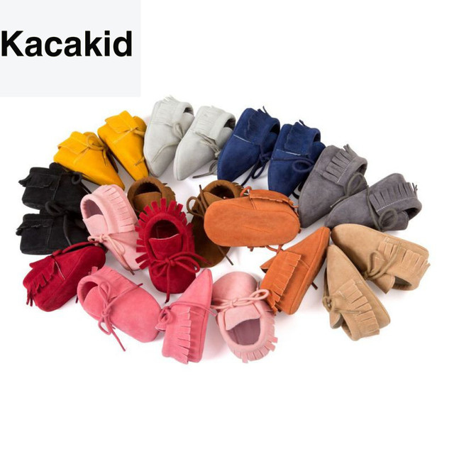 Baby Shoes 2019 Stylish PU Leather Baby Boy Girl Moccasins Soft Crib Shoes Fringe Soft Soled Non-slip Footwear First Walkers