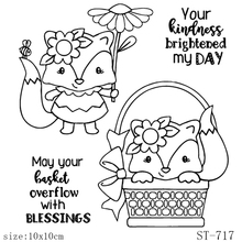 AZSG Cute Fox/Sincere Blessings Clear Stamps/Seals For DIY Scrapbooking/Card Making/Album Decorative Silicone Stamp Crafts