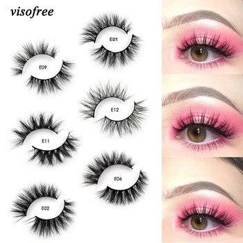2d03503427d Visofree Mink Lashes 3D Mink Eyelashes 100% Cruelty free Lashes Handmade  Reusable Natural Eyelashes Popular False Lashes Makeup