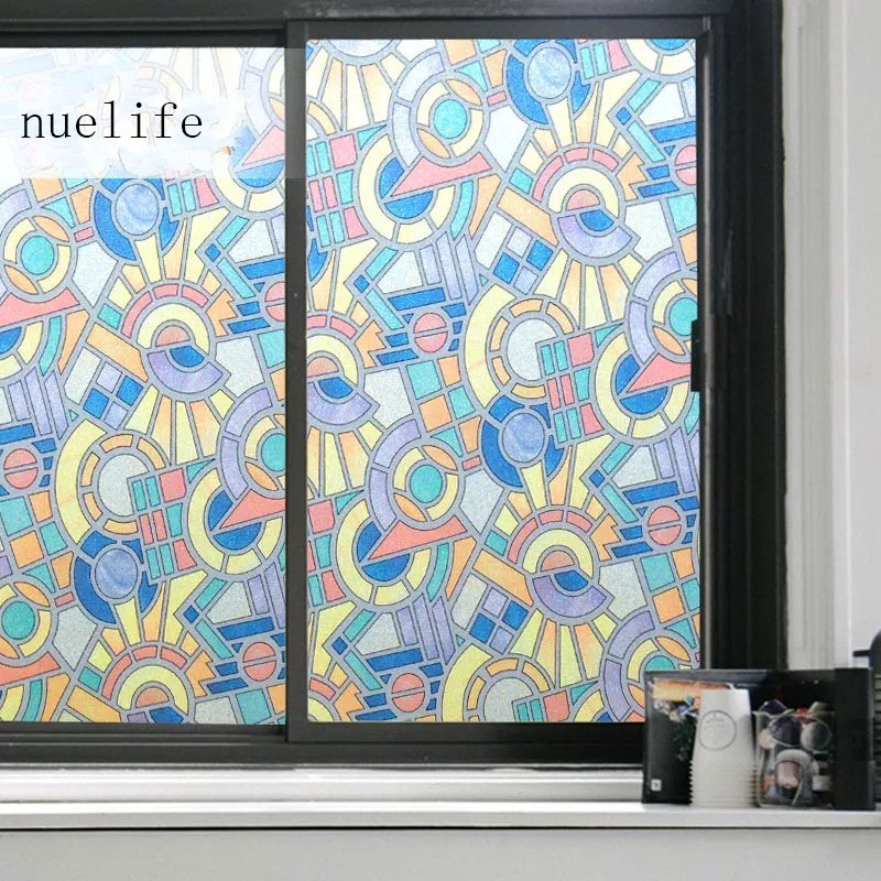 Film on glass window toning sticker privacy Stained Static Retro smart film glass Frosted PVC film Decorative vinyl width 90cm
