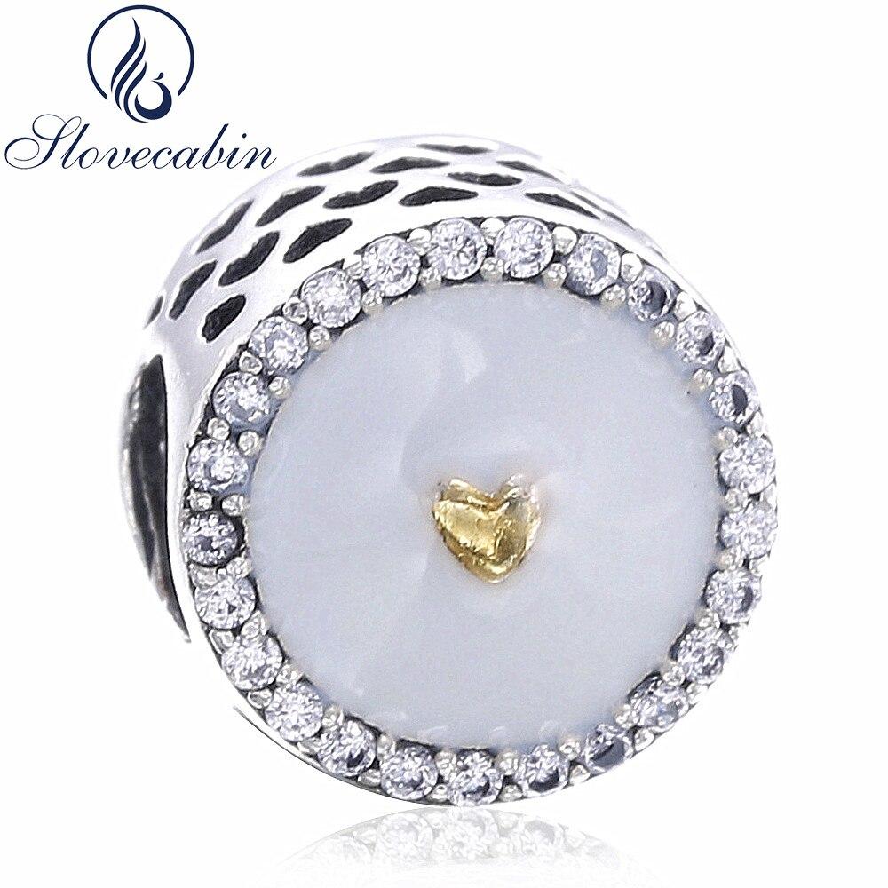 Slovecabin Vintage Charms Original 925 Sterling Silver Bead Fit Romantic Pandora Bracele ...