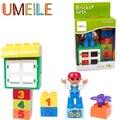Duplo UMEILE Original Nuevo Número Ventana Clásica Radio Flor Boy Kids Figura Edificio Bolck Juguetes Compatibles Con Duplo Legoe