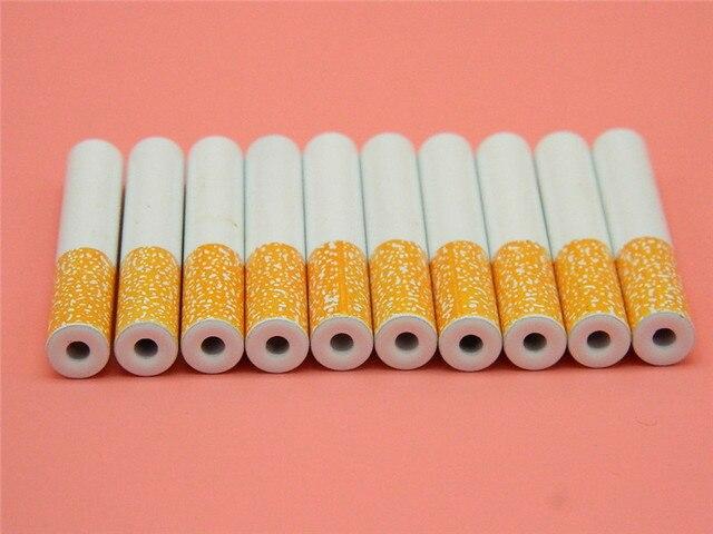 Groothandel Tuin Accessoires : 10 stks partij 55mm korte sigaretten pijp draagbare hand metalen
