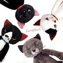 40CM Stuffed Cats Plush Toys Japan Scratch Kitten Peluche Sharp Paw Neko Soft Toy Children Kids Novel Gifts