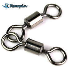 Rompin 50PCS Ball Bearing Swivel Solid Rings Fishing Connector 1CM Length Ocean Boat Fishing Hooks(China)